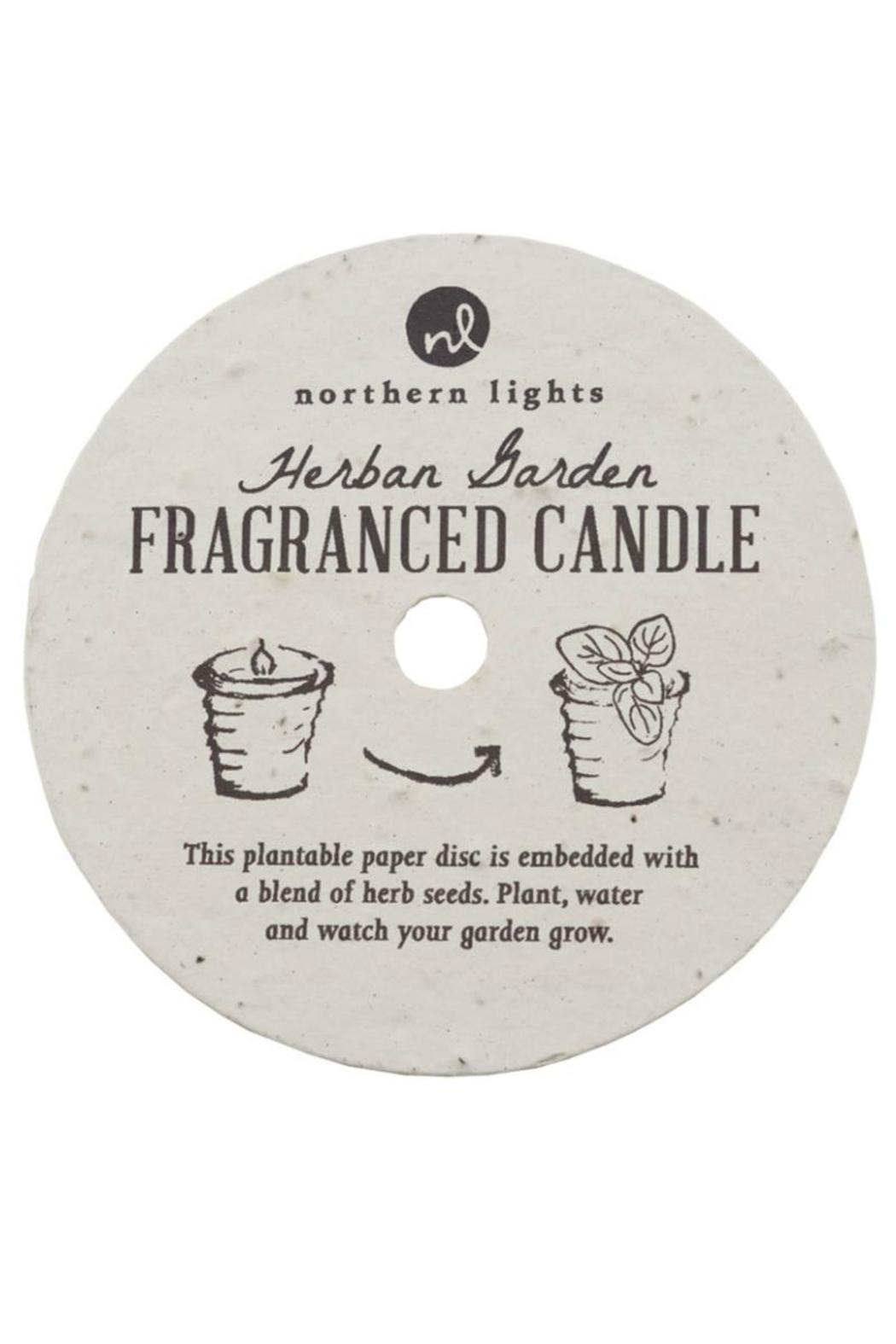 Northern Lights Fragrance Candle Herbal Garden - Front Full Image