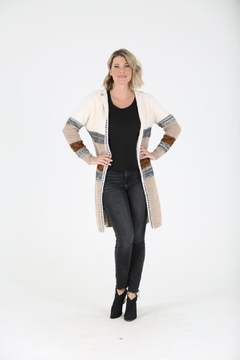 Nostalgia Fuzzy Cardigan Sweater With Hood - Product List Image