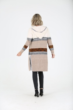 Nostalgia Fuzzy Cardigan Sweater With Hood - Alternate List Image