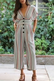 Nostalgia Stripped Jumpsuit - Front cropped