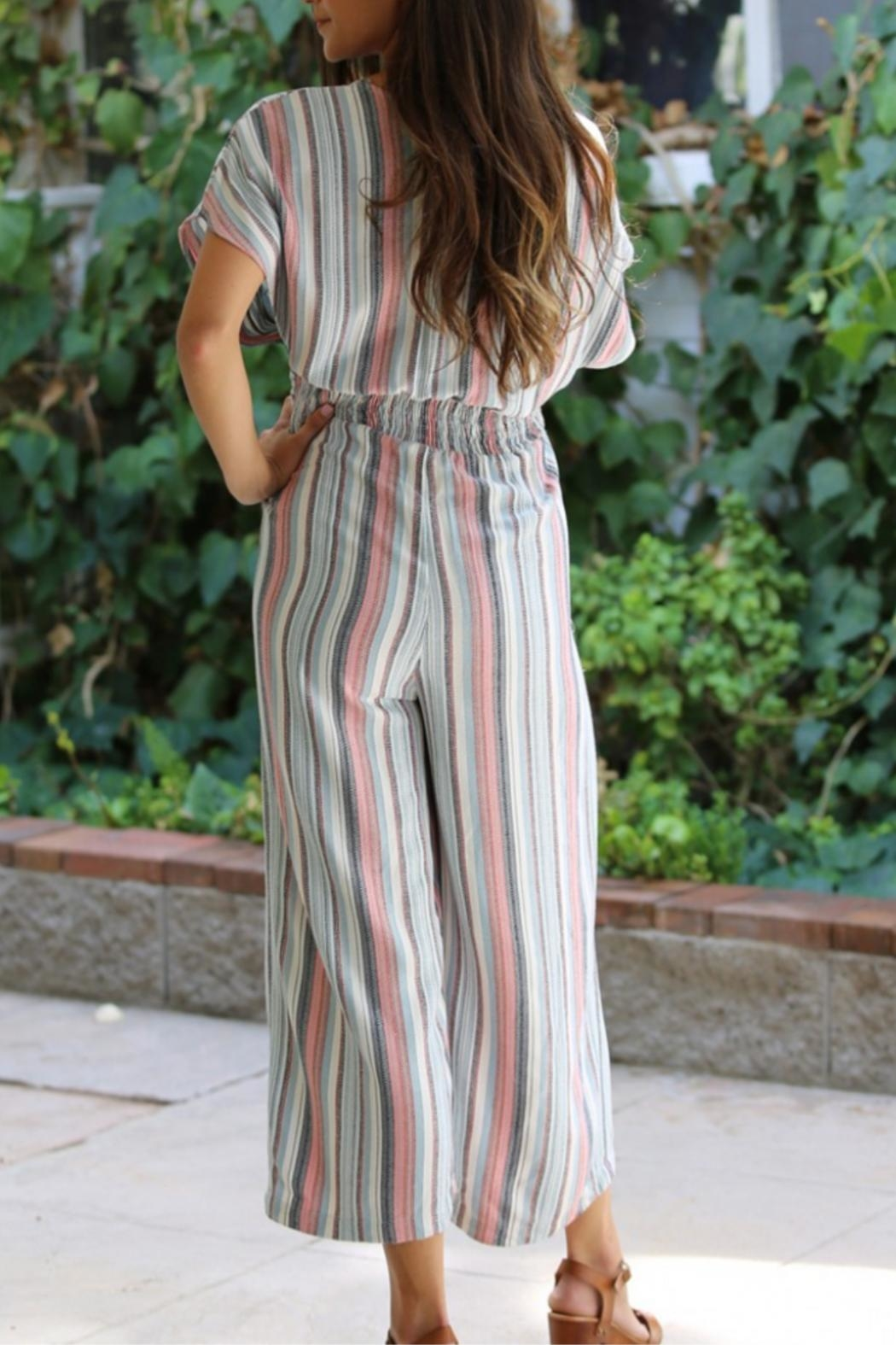 Nostalgia Stripped Jumpsuit - Front Full Image