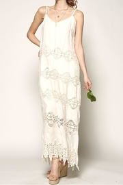 Nostalgic Threads Crochet Lace Maxi - Front full body