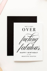 Lyn -Maree's Not A Day Over Fabulous, Fashionable Funny Birthday Card - Product Mini Image