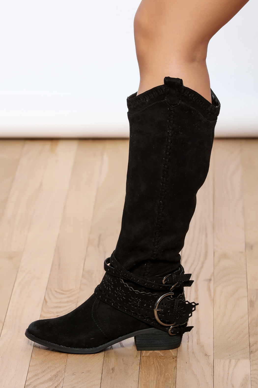 Not Rated Black Buckle Boots from