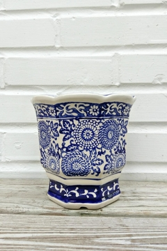 Shoptiques Product: Blue Floral Pot