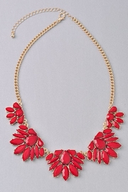 Not Labeled  Red Floral Necklace - Product Mini Image