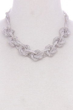 Not Labeled  Silver Sparkle Necklace - Alternate List Image