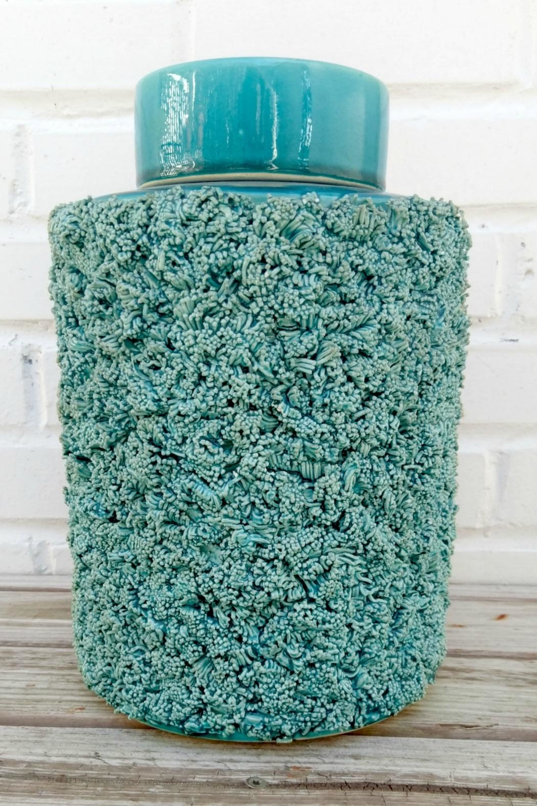 Not Labeled  Teal Textured Container - Main Image