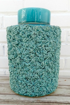 Shoptiques Product: Teal Textured Container