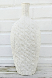 Not Labeled  White Sweater Vase - Front cropped