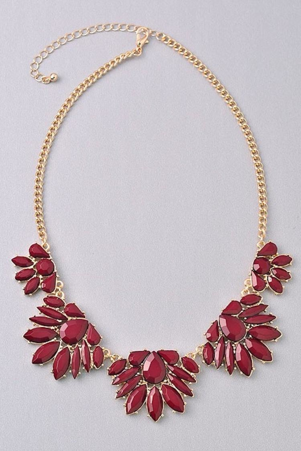 Not Listed Floral Burgundy Necklace - Main Image