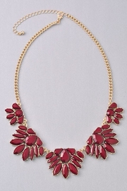 Not Listed Floral Burgundy Necklace - Front cropped