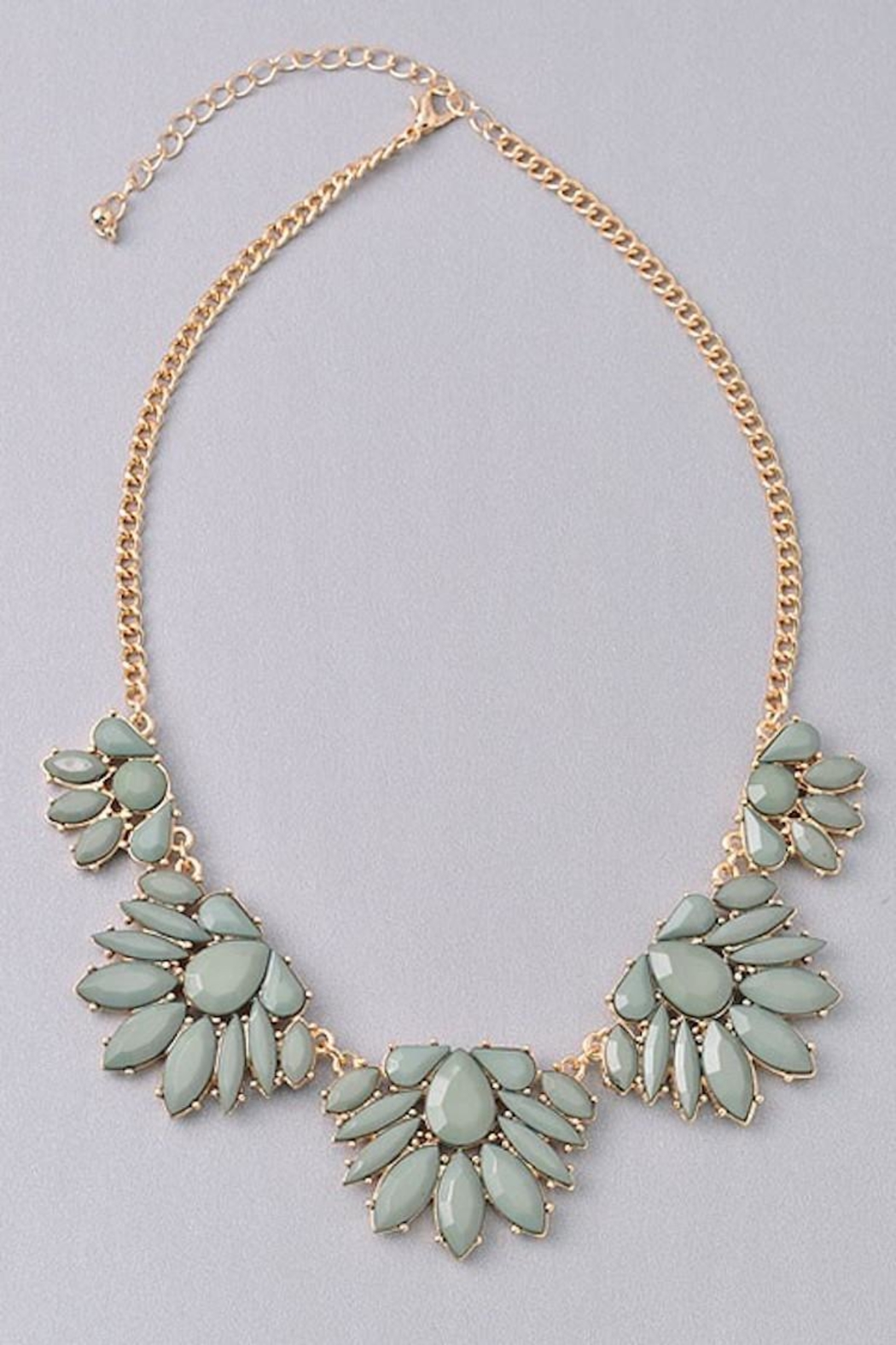 Not Listed Floral Mint Necklace - Main Image