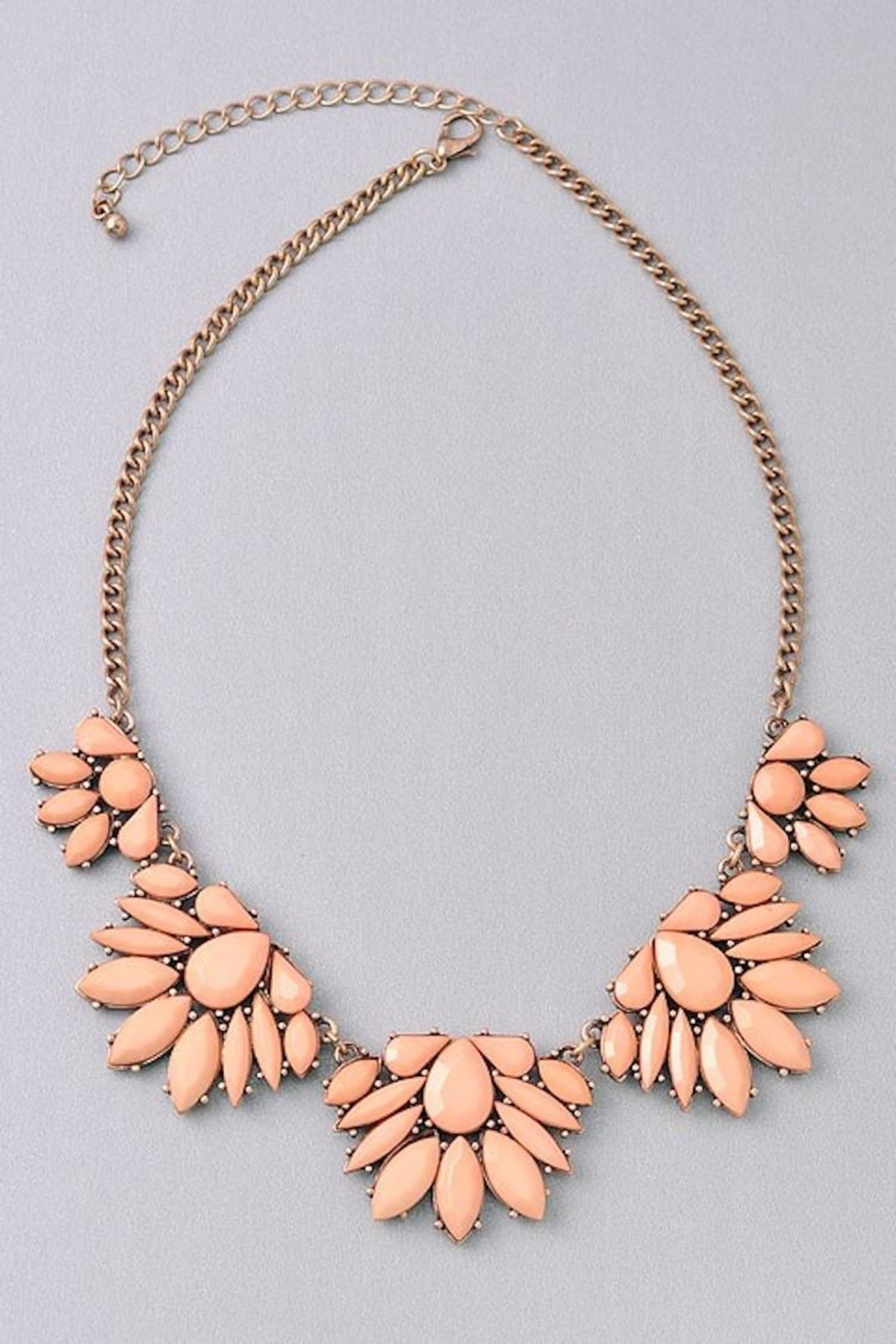 Not Listed Floral Peachy Necklace - Main Image