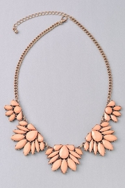 Not Listed Floral Peachy Necklace - Front cropped
