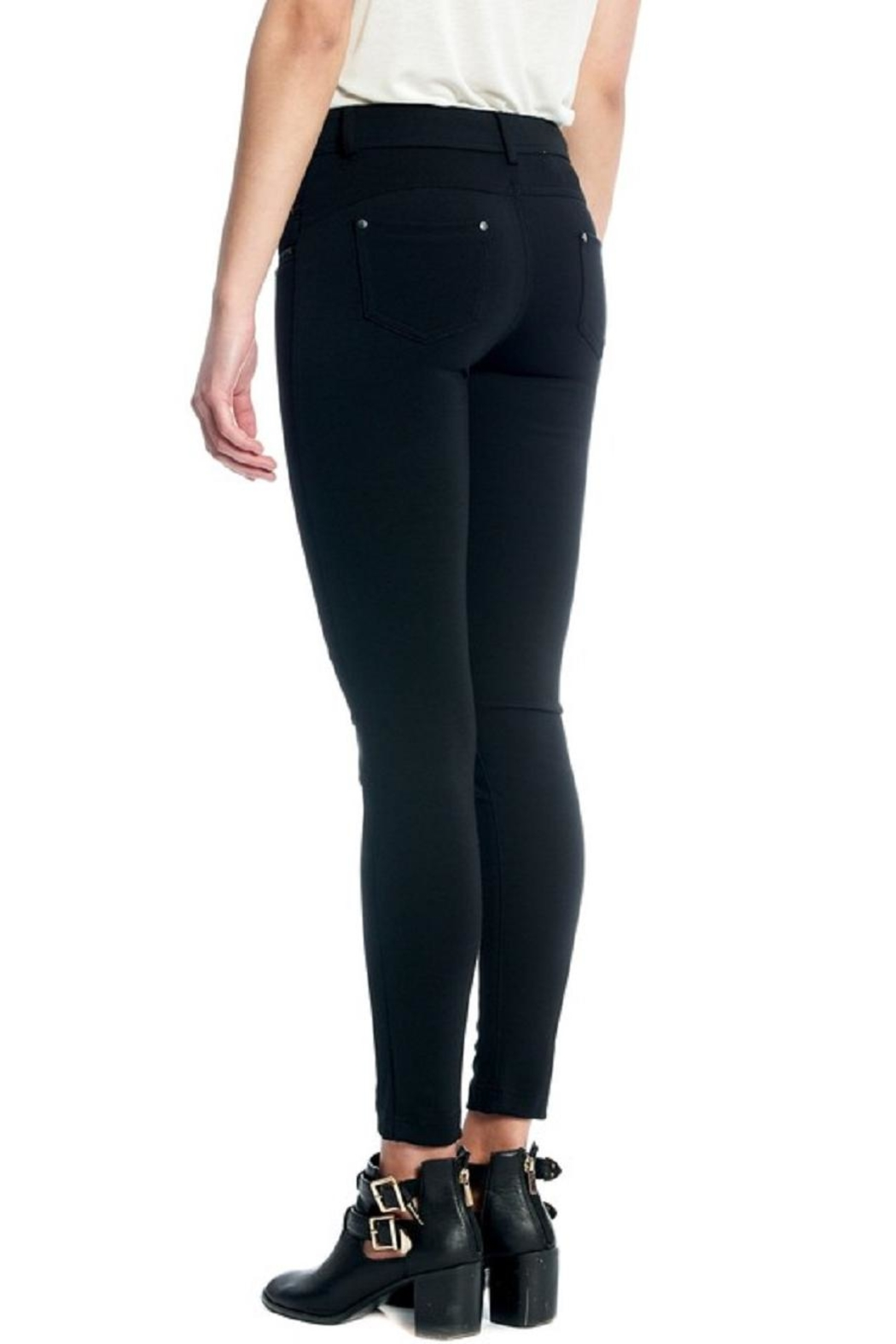 Not Listed Knee-Stitch Ponte Leggings - Side Cropped Image