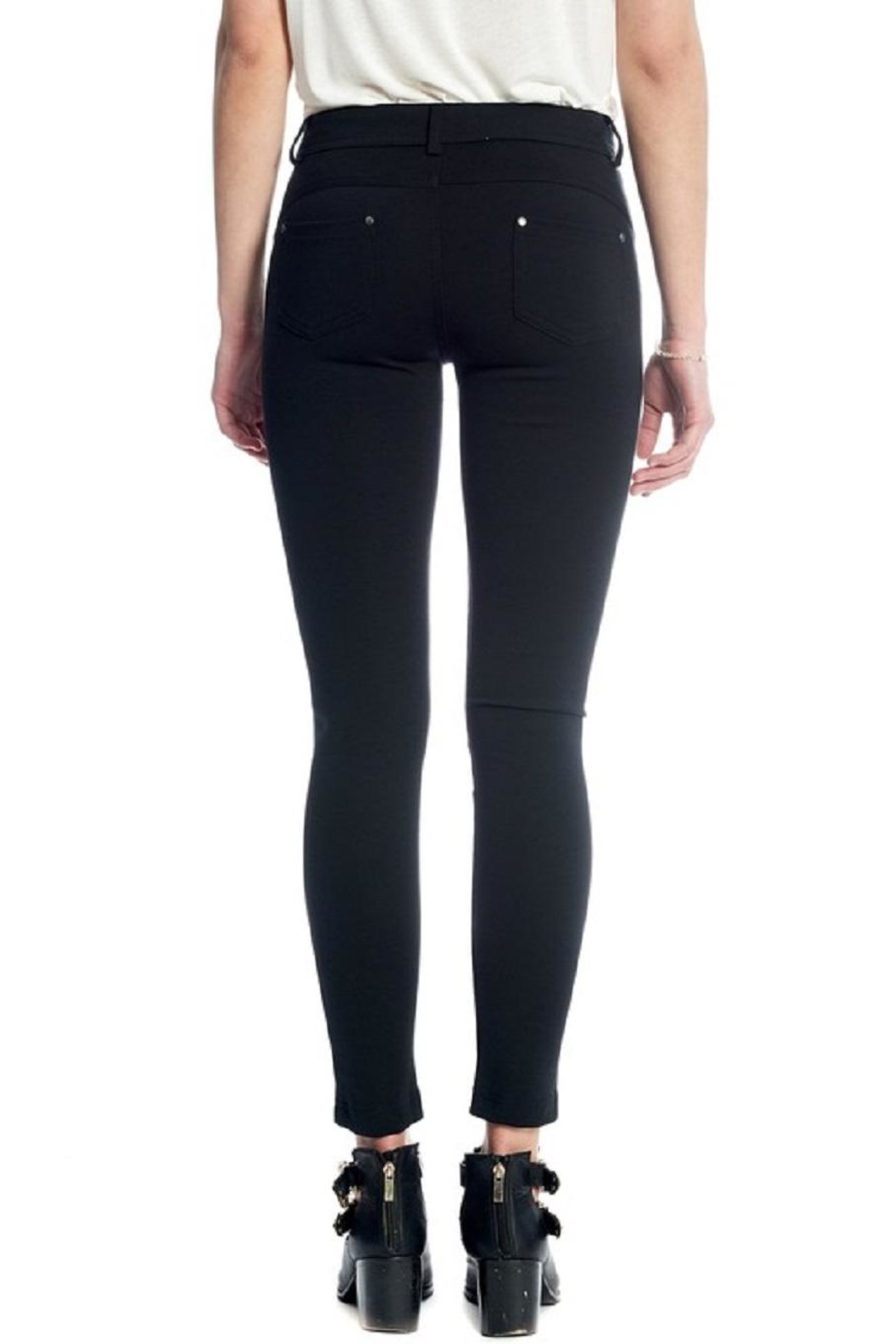 Not Listed Knee-Stitch Ponte Leggings - Front Full Image