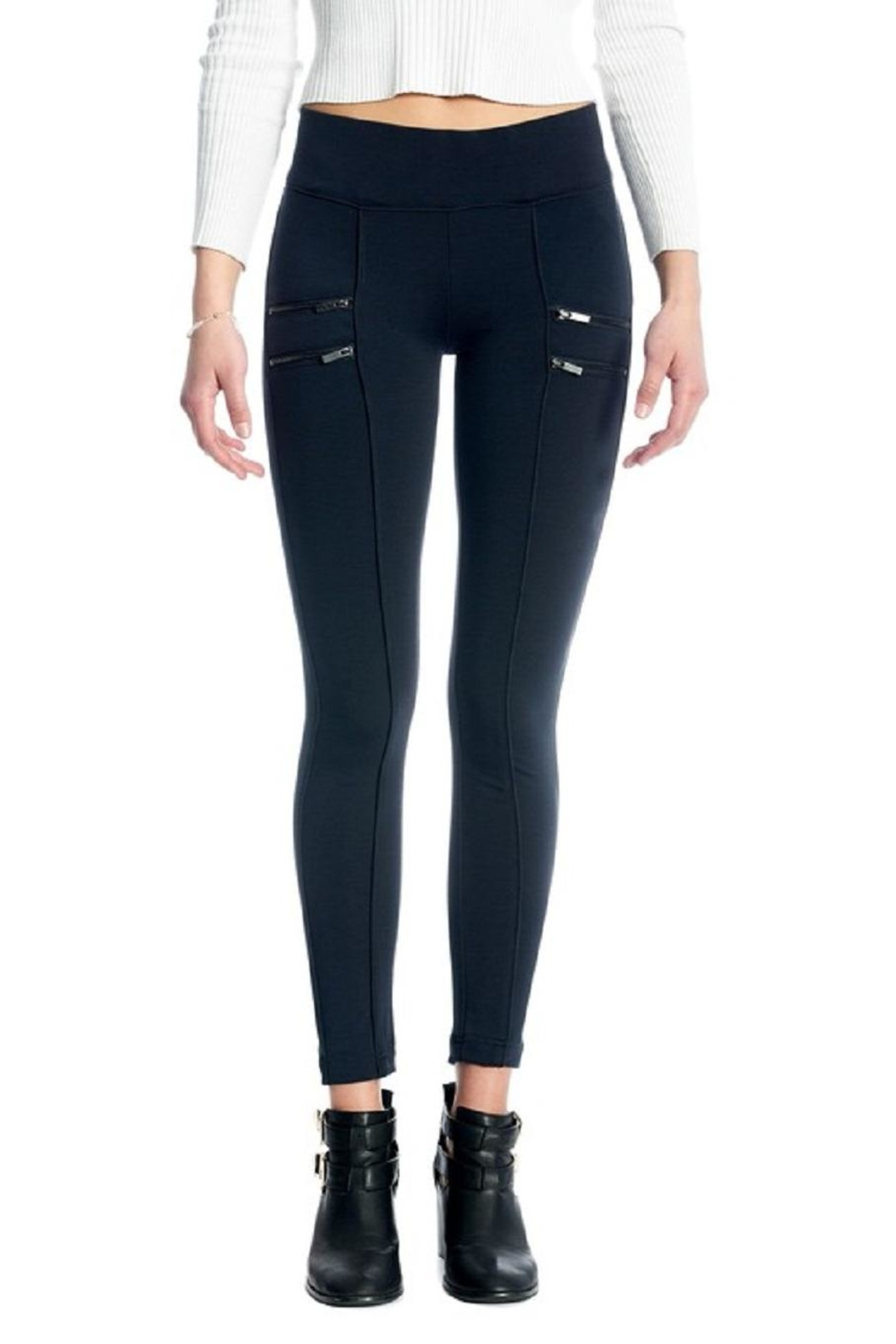 Not Listed Zippered Ponte Legging - Main Image