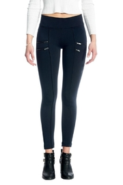 Not Listed Zippered Ponte Legging - Product Mini Image