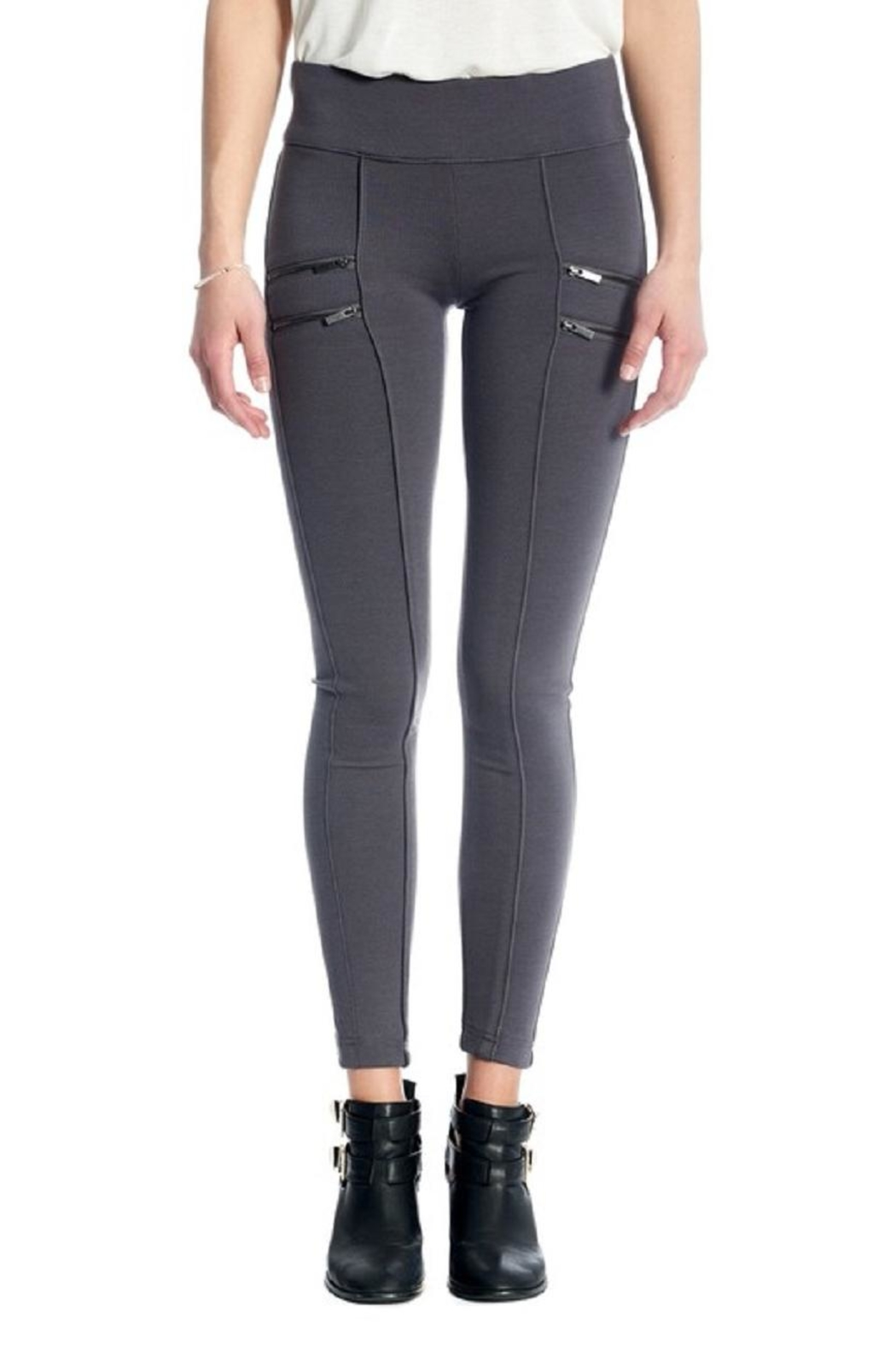 Not Listed Zippered Ponte Legging - Front Cropped Image