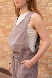 not Perfect Linen Cropped Linen Jumpsuit - Other