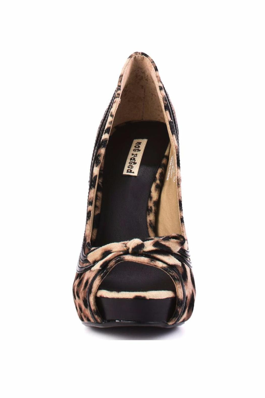 Not Rated Leopard Bow Heel - Side Cropped Image