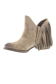 Shoptiques Product: Taupe Fringe Booties