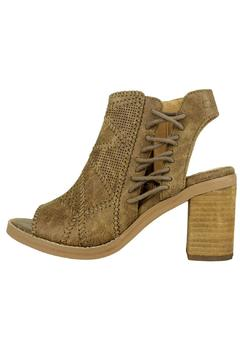 Shoptiques Product: Brown Peep-Toe Booties