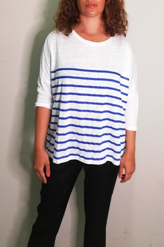 Not Shy Striped Linen T-Shirt - Product List Image