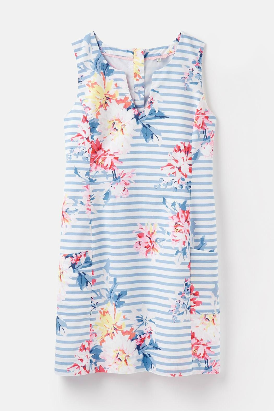 Joules Notch Neck Dress - Side Cropped Image