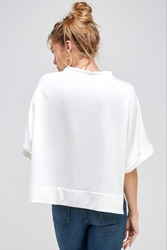 Caramela Notched Collar Knit Top - Alternate List Image