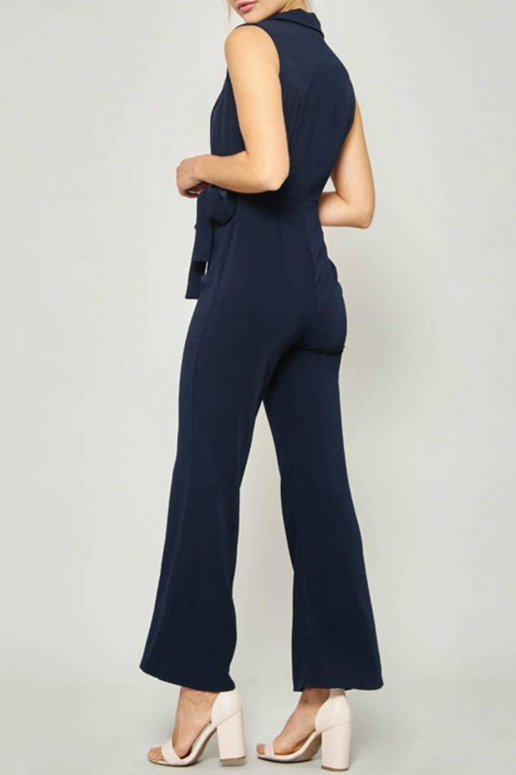 Promesa USA Notched-Lapels Wide-Leg Jumpsuit - Side Cropped Image