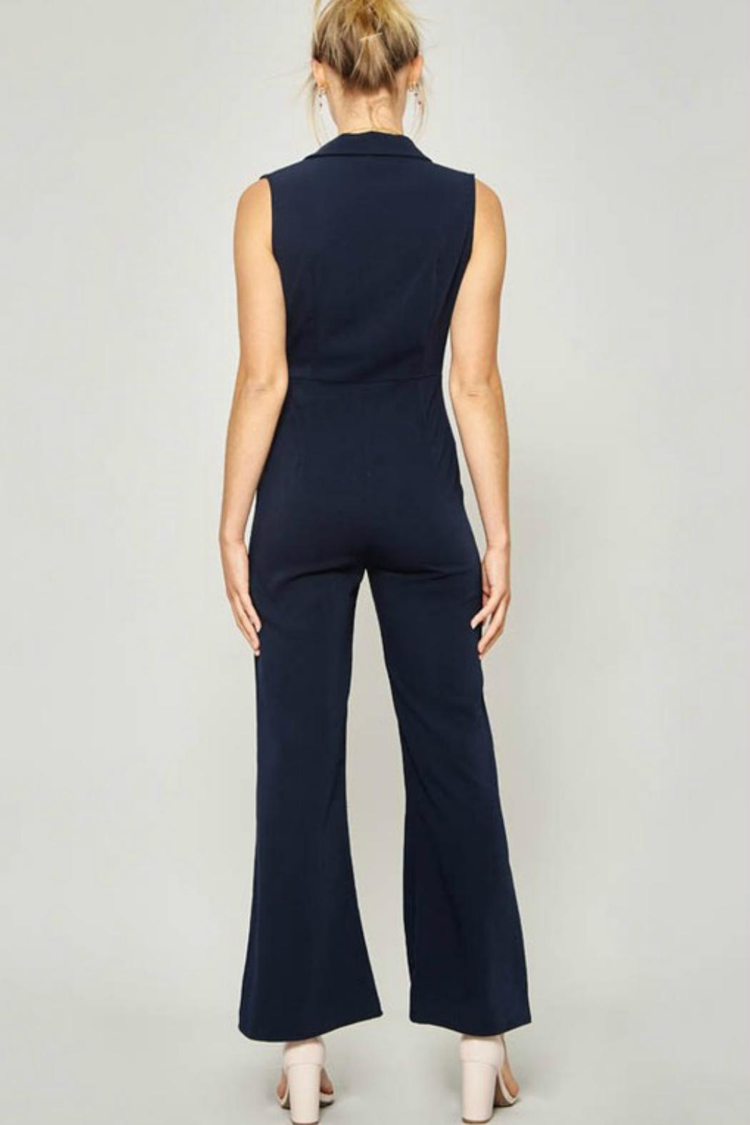 Promesa USA Notched-Lapels Wide-Leg Jumpsuit - Front Full Image