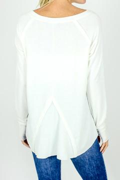 Six Fifty Notched neck Top w Thumbhole - Alternate List Image