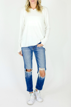 Six Fifty Notched neck Top w Thumbhole - Product List Image
