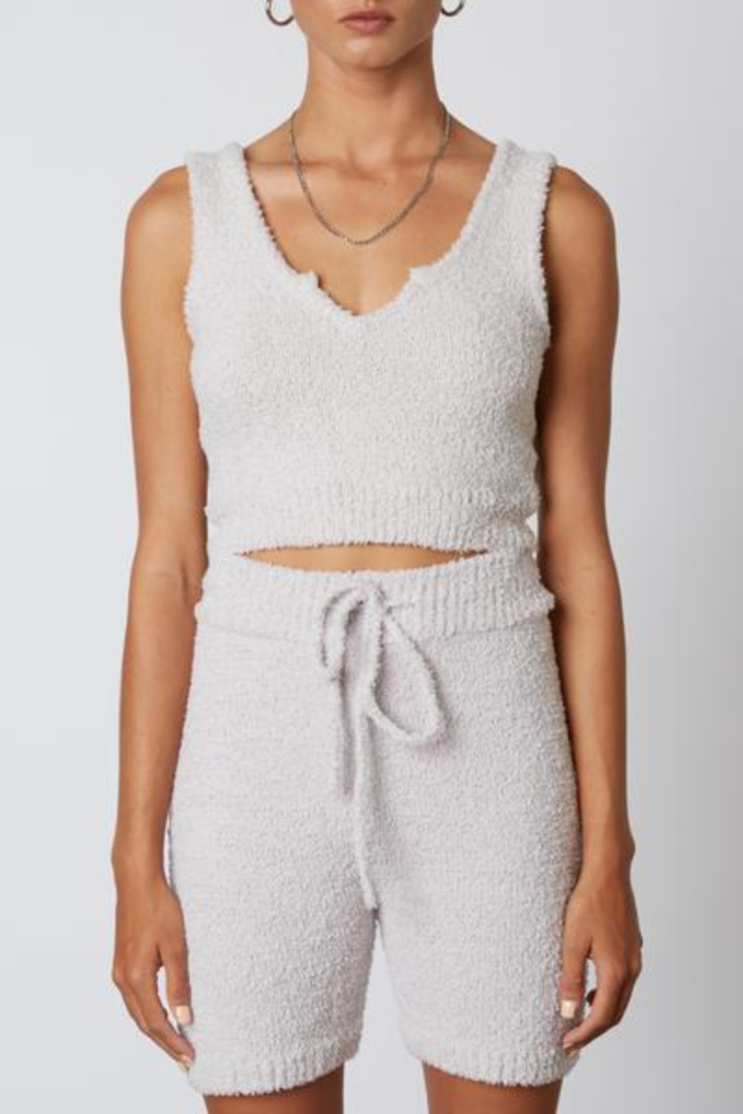 NIA Notched Sweater Tank - Front Cropped Image