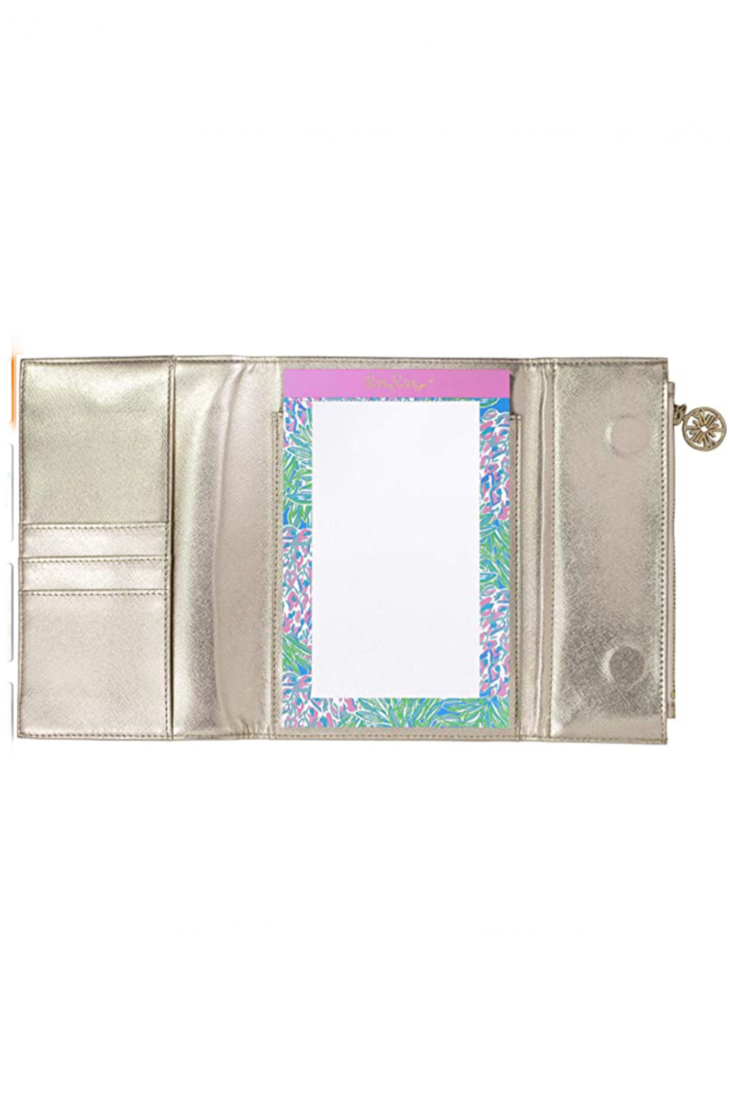 Lilly Pulitzer  Notepad Folio Clutch - Front Full Image