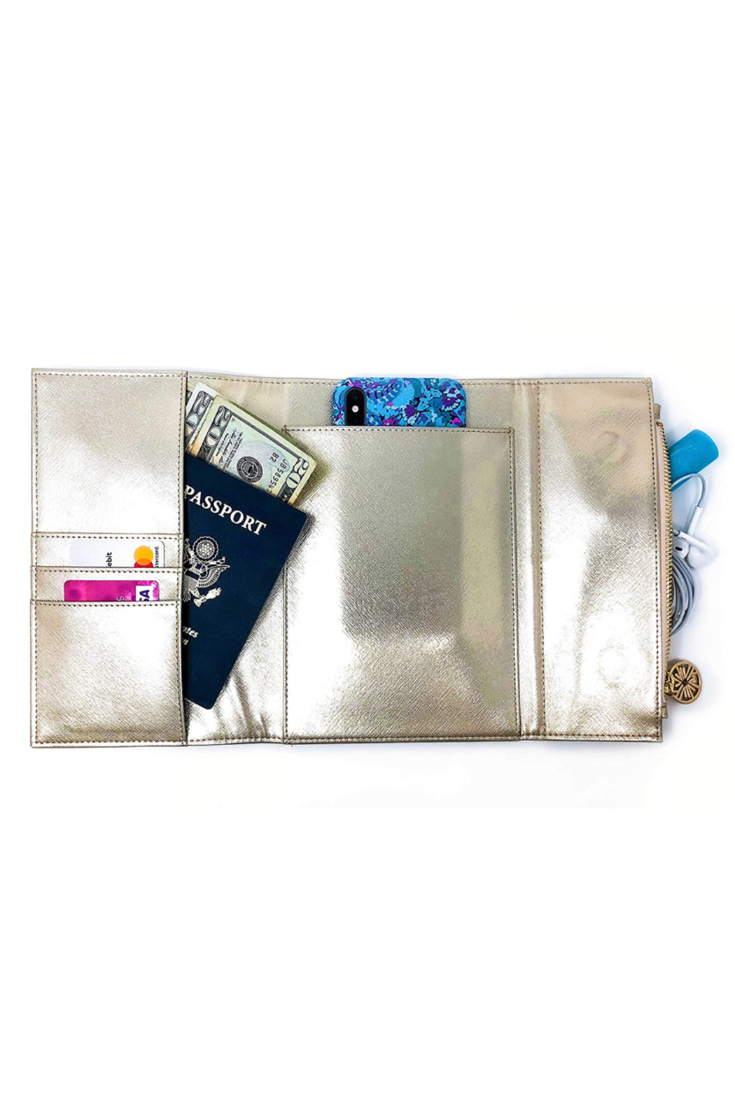 Lilly Pulitzer  Notepad Folio Clutch - Side Cropped Image