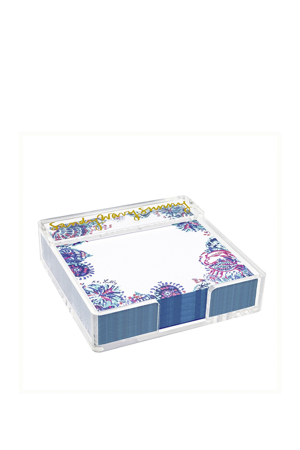 Lilly Pulitzer  Notepad with Acrylic Holder - Small - Main Image