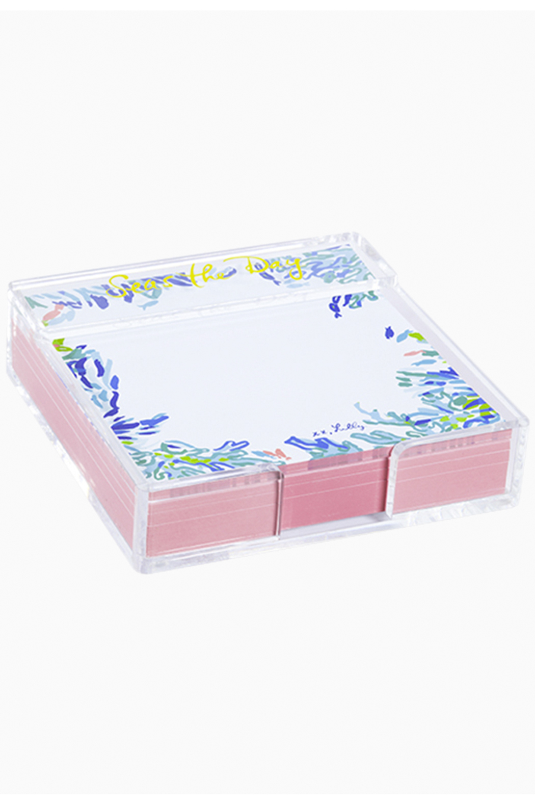 Lilly Pulitzer  Notepad with Acrylic Holder - Small - Front Full Image