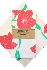 Noteworthy Paper & Press Amaryllis Tea Towels - Product Mini Image