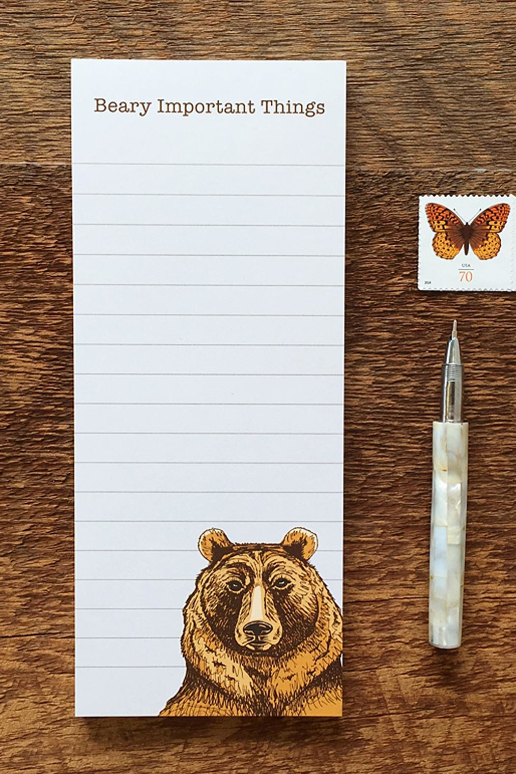 Noteworthy Paper & Press Bear Notepad - Main Image