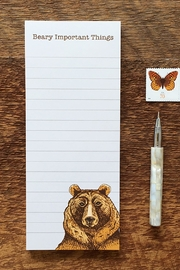 Noteworthy Paper & Press Bear Notepad - Front cropped