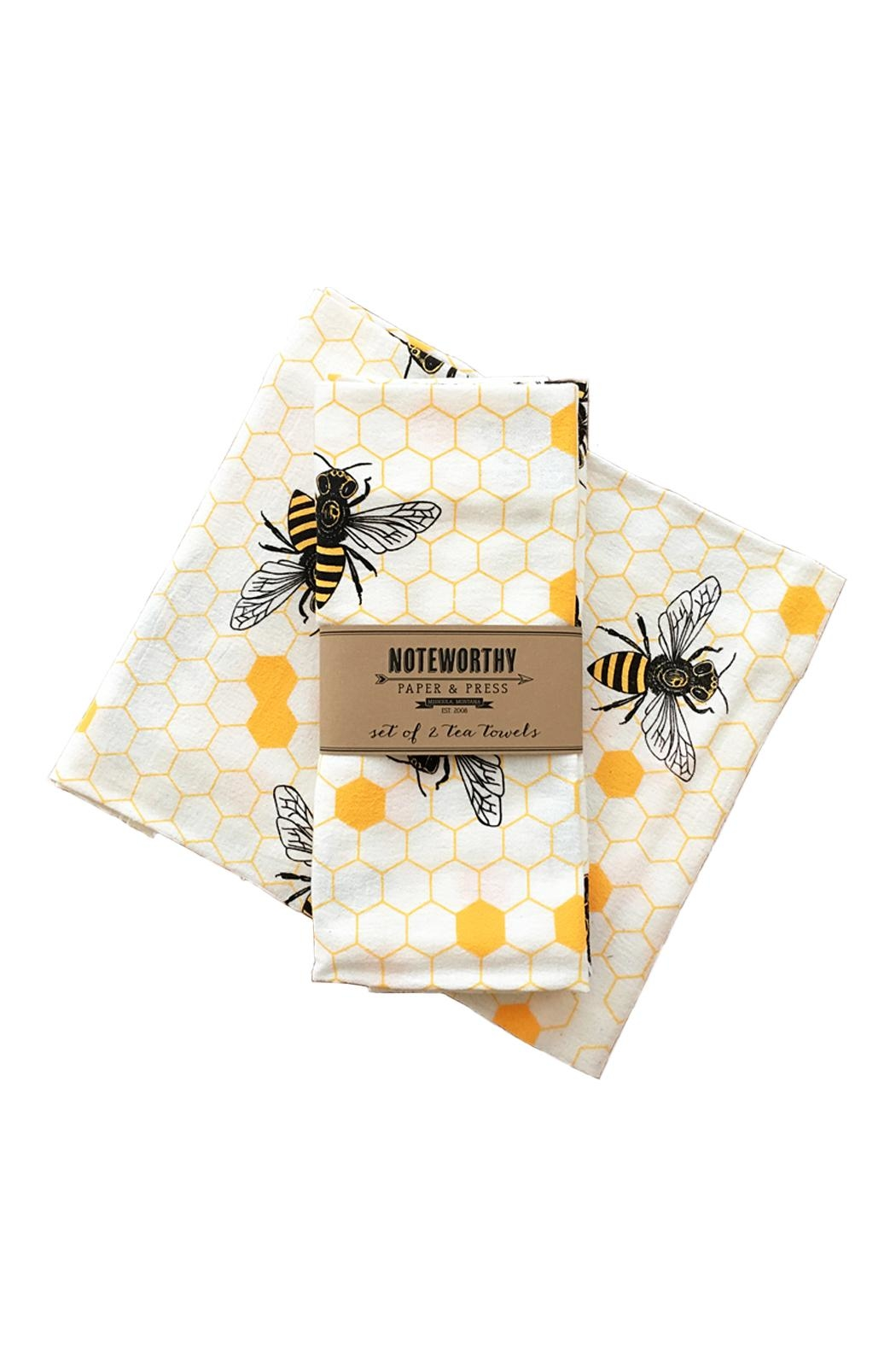 Noteworthy Paper & Press Bee Tea Towels - Front Cropped Image