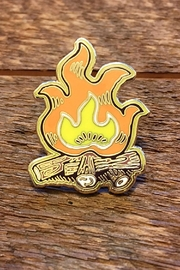 Noteworthy Paper & Press Campfire Enamel Pin - Front cropped
