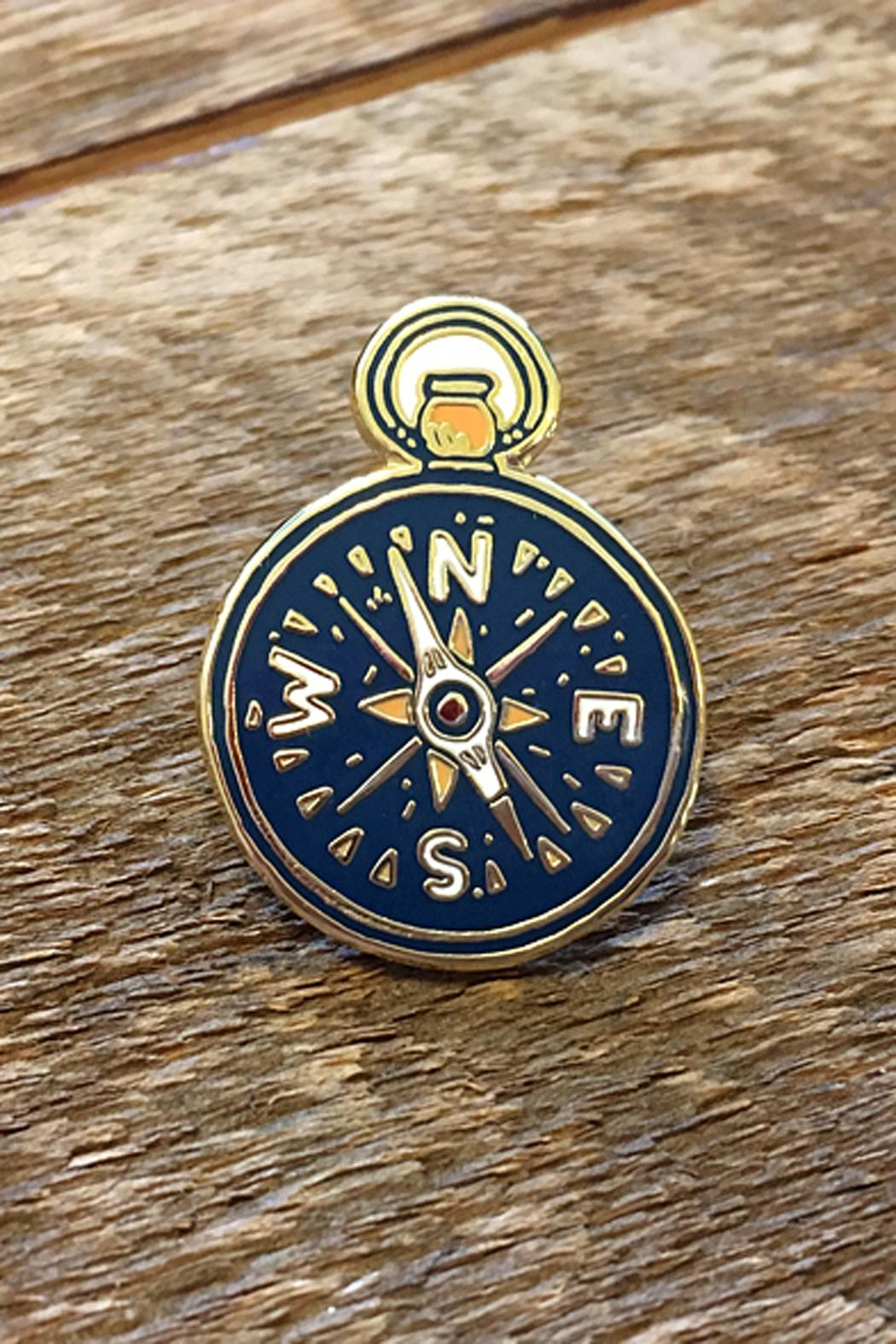 Noteworthy Paper & Press Compass Enamel Pin - Main Image