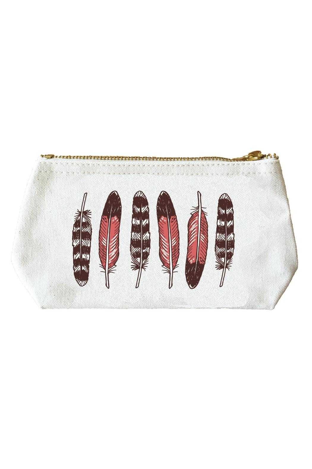Noteworthy Paper & Press Feathers Zip Pouch - Main Image