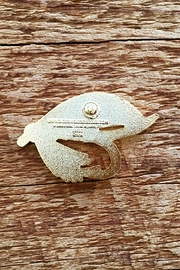 Noteworthy Paper & Press Fishing Fly Pin - Front full body