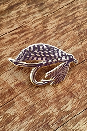 Noteworthy Paper & Press Fly Fishing Pin - Front cropped