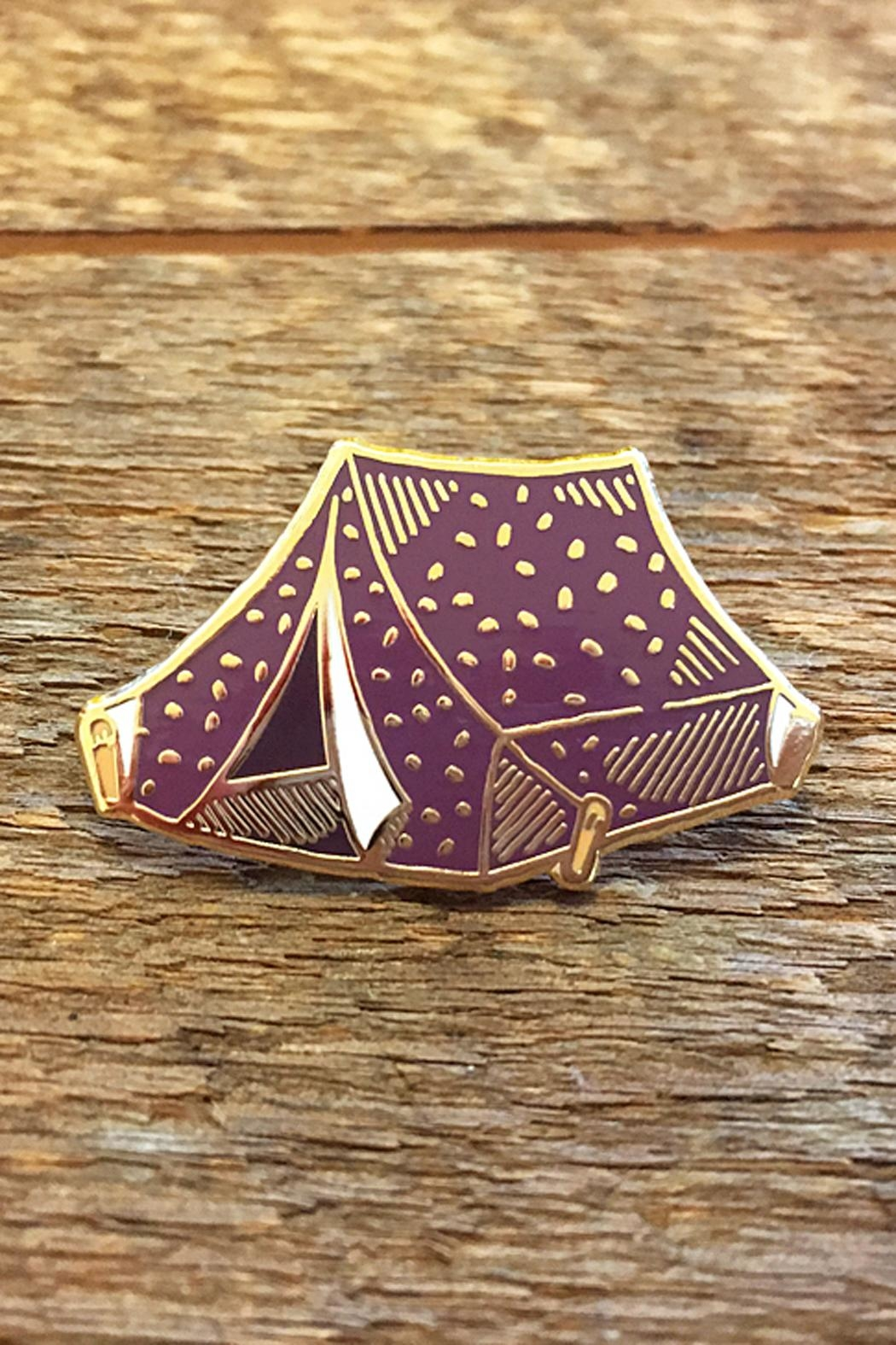 Noteworthy Paper & Press Tent Enamel Pin - Front Cropped Image